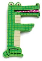 Buy Djeco Wooden F Letter - Crocodile