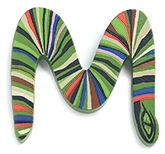 Djeco Wooden M Letter Toy - Snake Design