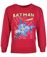 Cucu Fun Full Sleeves Red T-Shirt - Batman Print