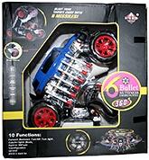 Adraxx Multi Functions Exciting Stunt Car Model Cum Robot Toy