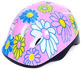 Fab N Funky Flower Print Helmet - Pink