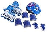 Fab N Funky Blue Inline Skates Set Blue - Gosome Print