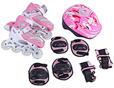 Fab N Funky Pink Inline Skates Set - Gosome Print
