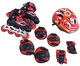 Fab N Funky Red Inline Skates Set