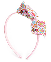 Hopscotch Pink Hair Band And Snap Clips - Bow Applique