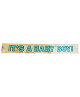 Party Anthem Its Baby Boy Foil Banner - 181 x 51 Cm