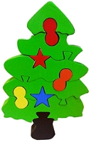 Skillofun Christmas Take Apart Wooden Puzzle Tree