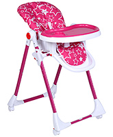 Buy Fab N Funky Star Print Pink High Chair With Wheels -  82 x 56 x 102 cm