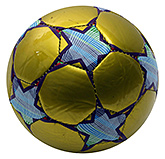 Fab N Funky Designer Football Star Print - Golden Yellow