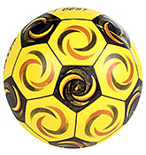 Buy Fab N Funky Designer Yellow Football - Soccer Print