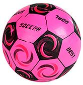 Buy Fab N Funky Designer Pink Football - Soccer Print