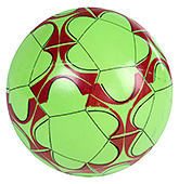 Fab N Funky Designer Green Football - Flower Print