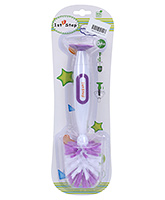 1st Step Bottle And Nipple Cleaning Brush With Suction Base Purple - 25 Cm