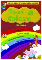 Shree Book Centre Novel Educational Worksheets Read And Colour Blends - English