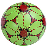 Fab N Funky Printed Football - Red And Green