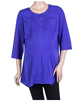 W Long Sleeves Kurta - Blue