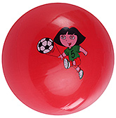 Fab N Funky Red Football - Dora Print