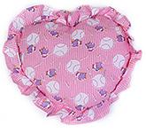 Buy Jinglers Pink Heart Shape Baby Pillow - 24 x 29 cm
