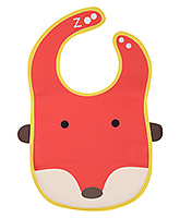 Fab N Funky Baby Bib Fox Face Design Red - 25 x 22.5 cm