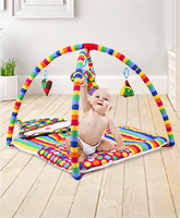 Babyhug Smiling Clown Twist N Fold Activity Play Gym - Multicolour