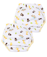Carters Monkey Print Diaper Pants - Set of 2