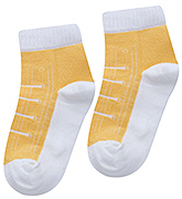 Mustang Shoe Lace Design Mango Plain Socks