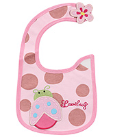 Buy Carters Baby Bib Ladybug Print Pink - 19 x 18 cm