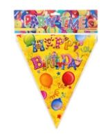 Archies Party Time Flag Banner - Happy Birthday