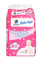 Wipro Dry Care Diapers Medium - 5 Pieces