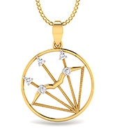 Mani Jewel Zodiac Sign Collection 10Kt Gold Pendant - Sagittarius The Archer