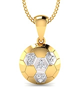 Mani Jewel Kids Collection 10Kt Hallmarked Gold Pendant - Ball Shape