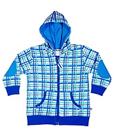 Buy Buzzy Full Sleeves Hooded Jacket - Checks Design