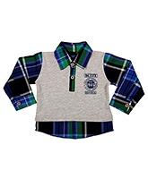Buy Buzzy Full Sleeves Check Shirt - Semi Placket Closure