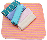 Buy Carters Multicolour And Multi Print Wash Cloths - Set Of 6 Pieces