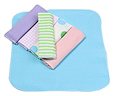 Buy Carters Multicolour Wash Cloths - Set Of 6 Pieces
