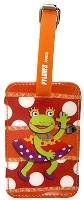 Buy Pylones Orange Frog Print Luggage Tag - 7 x 11 cm