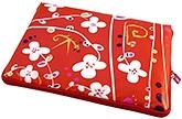 Buy Pylones White Flower Design Laptop Sleeve