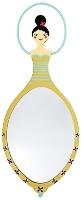 Buy Pylones Japanese Doll Cream Mirror - Gold