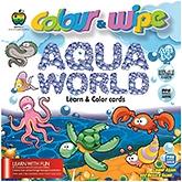 Buy Apple Fun Colour And Wipe Cards Aqua World Mini  - 3 Years Plus