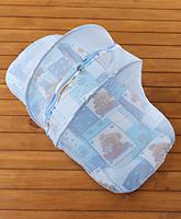 Buy Teddy Print Jumbo Bedding Set with Mosquito Net Zipper -  Blue