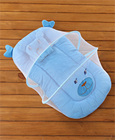 Buy Velvet Baby Bedding Set With Mosquito Net Blue