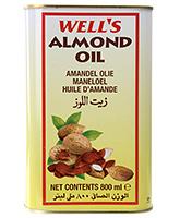 Buy Wells Almond Oil Tin - 800 ml