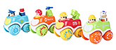 Fab N Funky Inertial Cartoon Car Toys - Set Of Four