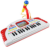 Fab N Funky Baoli Digital Electronic Music Piano with Microphone - Red
