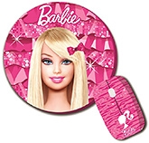 Buy Barbie Combo Of Wireless Mouse And Mouse Pad