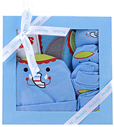 1st Step Blue Elephant Design Baby Gift Set - Pack Of 4