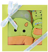 1st Step Green Pig Design Baby Gift Set - Pack Of 4