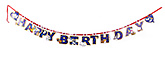 Tom & Jerry Birthday Banner - 15 pieces
