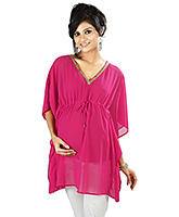 Buy Nine Pink Maternity Kaftan With Sequence Details