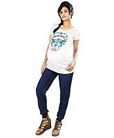 Nine Blue Maternity Smart Harem Styled Jeans